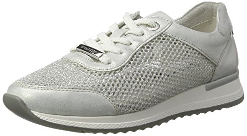 Remonte Damen R7006 Sneakers, Weiß (Ice/Weiss-Silber/90), 42 EU