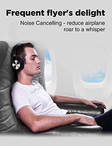 cowin E7 PRO [2018 aktualisiert] Active Noise Cancelling Bluetooth Kopfhörer mit Mikrofon Hi-Fi Deep Bass Wireless Kopfhörer über Ohr 30H Spielzeit für Reisen Arbeit TV Computer Telefon(Schwarz) - 4