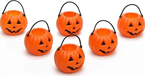 Lotto di 6 secchi zucche halloween