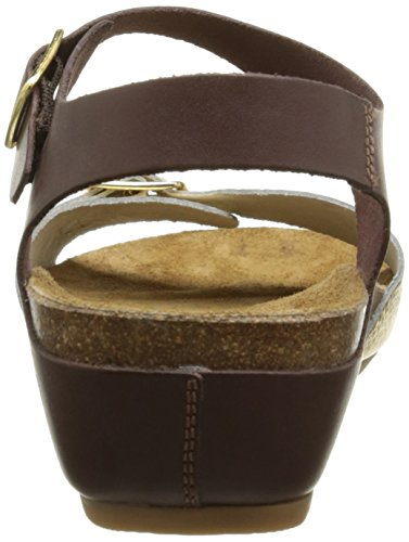 Hush Puppies Tease, Sandales Femme Marron (Marron Foncé/Or)
