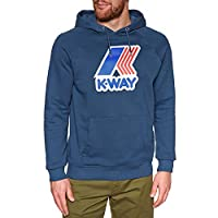 K-way Sean Ft Macro Pullover Hoody Small Blue Ottanio