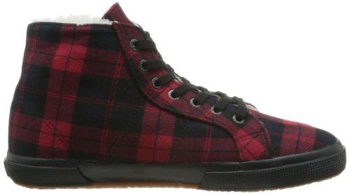 SUPERGA - 2095 Tweedbinu, Sneaker Unisex - Adulto Rosso (Rouge (Red/Black))