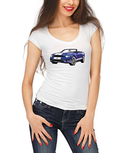 Billion Group | Performance Design | American Muscle | Fast Car Club | Women's Megan Crew Neck T-Shirt Bianco X-Large