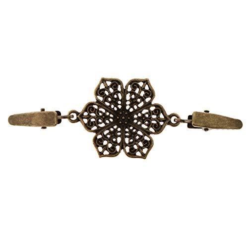 IPOTCH Clip Suéter Floral Diamantes Imitación Pinza