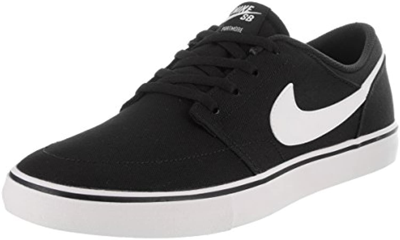 Zapatillas de skate Nike Portmore II Solar Cnvs Black / White 13 hombres EE. UU.