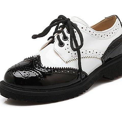 ZY/2016Scarpe da donna brevetto in pelle piattaforma piattaforma/Creepers/Punta arrotondata oxfords