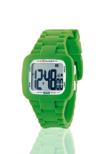 Sector Unisex Watch R3251572015 In Collection Street with Digital Display and Green Strap