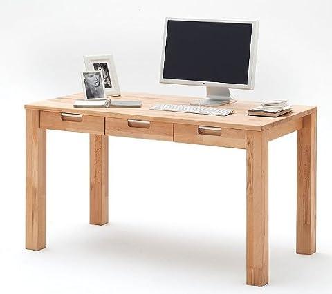 Schreibtisch Kernbuche Massiv Struktur Buche Massivholz Bürotisch Holz Konsole