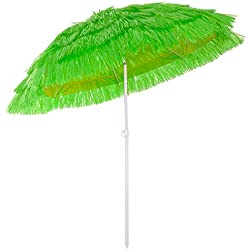 Deuba Parasol Hawaii - Ø 160 cm - Vert - Inclinable pour Jardin terrasse Plage