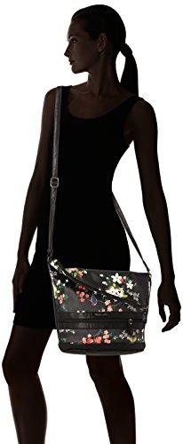 TamarisSmirne Hobo Bag - Borsa a spalla Donna Nero (Black Comb.)