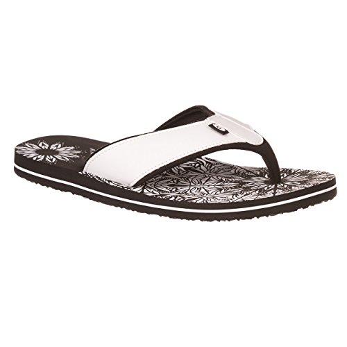 Animal Swish Placement Flip Flops - Black-UK 5