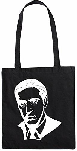 Mister Merchandise Tasche Al Pacino Corleone Pate Stofftasche , Farbe: Schwarz Schwarz