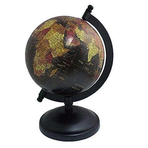 Antique carte de Géographie support en bois Home Office Table Décor Terre Globe Océan Big rotatif Globe