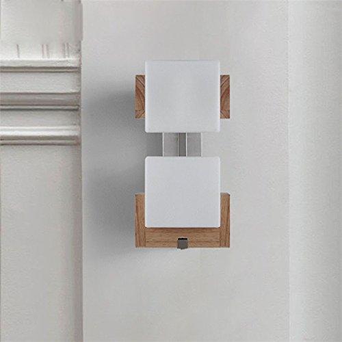 XXN-Creative Nordic oak corridoio minimalista al posto letto a due camere da letto soggiorno testa di lampadina di vetro di zucchero lampada da parete