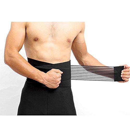 Taillentrimmer, 8 Federn Lordosenstütze Taillen Klammer Rückenprotektor Haltungskorrektur Fitness Gürtel Corrector Sport Pflege M