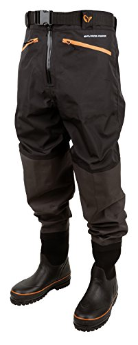 Savage Gear Breathable Waist Wader Boot Foot Cleated 46/47 - 11/12 Wathose (Fishing Tackle Gear)