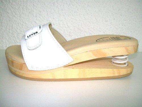 LUVER , Pantoufles femme Blanc - Blanc
