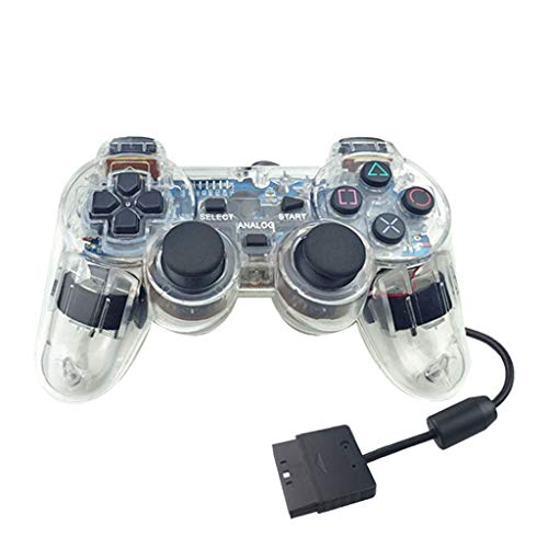 2019 Neuestes !!! Durchsichtiger transparenter PS2 Game Controller, Bloodfin Joystick Trigger Sensitive Shoot Aim Joysticks Gamepad Handy Shooter Zubehör für Sony Playstation 2 Playstation 2 (klar) -
