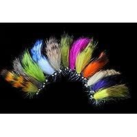 Tigofly Juego de cebos de pesca con mosca de trucha, 12 unidades, varios colores