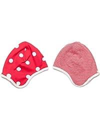 Bio gepunktet oder gestreift rot wendbar Baby Motorhaube