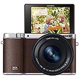 Samsung NX3000 Smart Systemkamera (20,3 Megapixel, 7,5 cm (3 Zoll) Display, Full HD Video, WIFi, NFC, Adobe Photoshop Lightroom 5, inkl. 16-50 mm OIS i-Function Power-Zoom-Objektiv) braun
