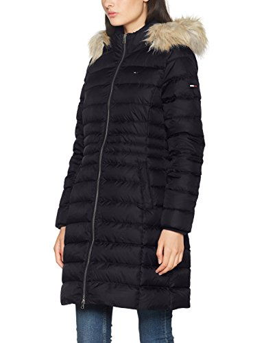 Hilfiger Denim Damen Mantel Thdw Basic Down Coat 3, Schwarz (Black Beauty 003), X-Large