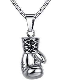 Aoiy - Collar con colgante de hombre de acero inoxidable, guante de boxeo, cadena de 58cm, ddp040
