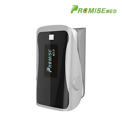Oximeter - PRCMISEMED Pro Series F9s Fingertip Pulsoximeter Blutsauerstoffsättigungsmonitor mit Verbindungsmittel (grau)