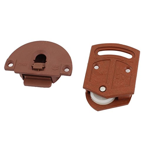 Sourcingmap Schiebetür-Roller für Kleiderschrank, 3,6 mm Durchmesser, Kunststoffplatte -