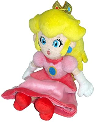 "Super Mario Plush - 8"" Princess Peach Soft Stuffed Plush Toy Japanese Import (japan import) por Three British trade"