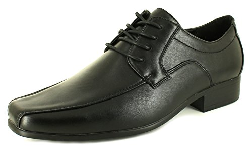Business Class New Mens Black Synthetic Leather Lace Fastening Formal Office Shoes - Black - UK Size 7