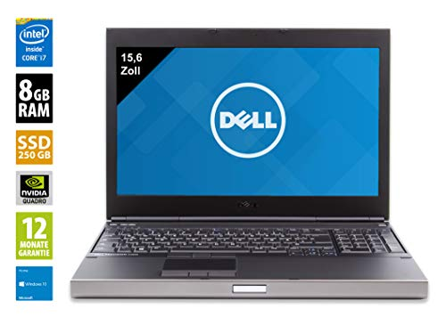 Dell Precision M4800 | Notebook / Laptop | 15,6 Zoll (1920x1080) | Intel Core i7-4810QM @ 2,8 GHz | 16GB DDR3 RAM | 256GB SSD | DVD-Brenner | Windows 10 Pro (Zertifiziert und Generalüberholt) Dell 15.6