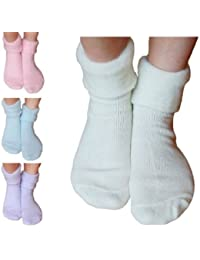 3 Pairs Mixed Ladies Sleeperzzz Brushed Bed Socks