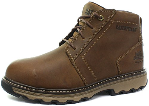 Caterpillar CAT P720779 Parker Herren Stahlkappen Stiefel, Beige (Tan), 42 Resistant Steel Toe Schuhe