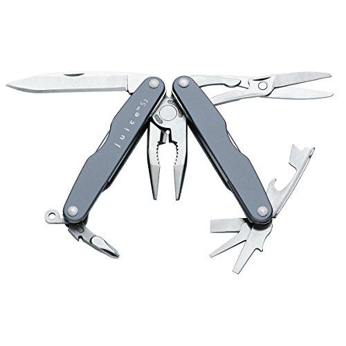 Leatherman JUICE S2 grau Taschenwerkzeug Werkzeug Multitool LTG 70208081N mit Spitzzange, Zange, Drahtschneider, Messer, Schraubendreher, Dosenöffner