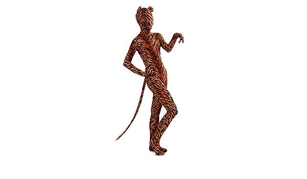 Halloween costume adult Tiger Spandex Zentai Animals Lycra Spandex Full Bod suit