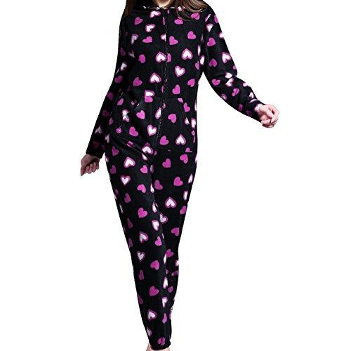 733fa2bcecf1 Airee fairee monopezzo donna onesie pigiama interno da donna con cappuccio  (eu 38, reticolo