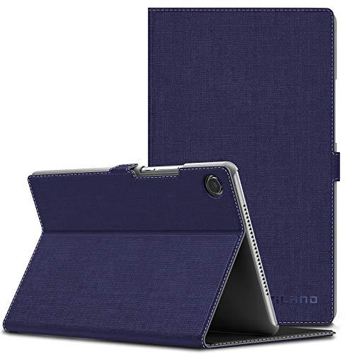 Infiland Huawei MediaPad M5 8.4 Hülle,Slim Ultraleicht PU-Lederne Halten Sie Vorne Schutzhülle Cover für Huawei MediaPad M5 8.4 Zoll Tablet(mit Auto Schlaf/Wach Funktion),Lila