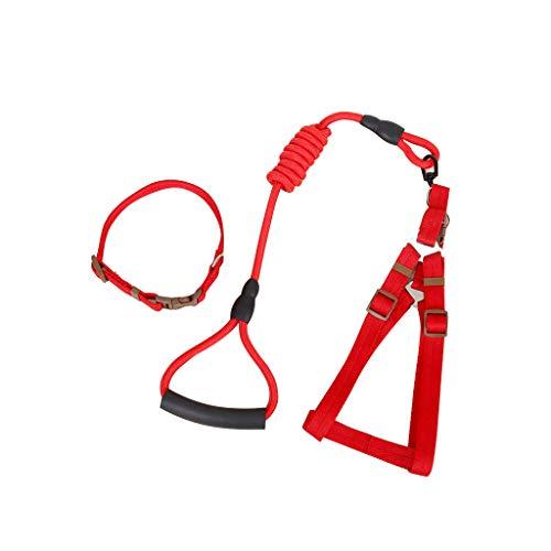 Zugseil Hundehalsband, Brust- und Rückenabriebfestigkeit, 360 ° drehbarer Haken, Farblegierungsverschluss (größe : L) -