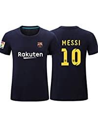 Manga Corta Camiseta T-Shirt No. 10 Messi Barcelona Soccer Club Round Cuello Regalo