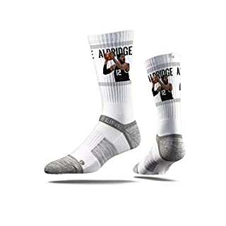 Strideline NBA San Antonio Spurs Lamarcus Aldridge Action Premium Athletic Crew Socks, One Size