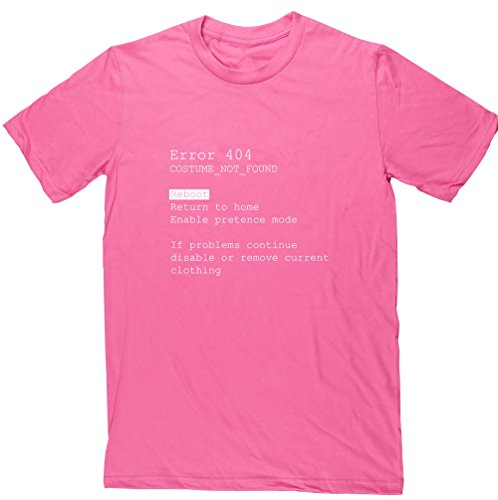 hippowarehouse Fehler 404Kostüm nicht gefunden Reboot Return To Home, können nicht Modus Unisex Short Sleeve T-Shirt Gr. xxl, Rosa - (Kostüme Teen Nerd)