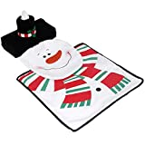 Fjiujin,Set da Toilette Copri-Pupazzo di Neve di Natale Set per Decorazioni Natalizie da Bagno(Color:Multi-A)