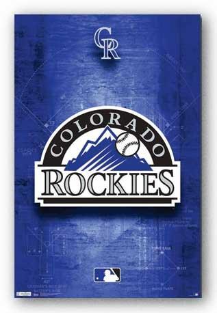 Colorado Rockies Logo - MLB Tirages d'Art Poster