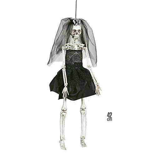 Widmann 01407 Skelett Braut, Unisex- Erwachsene, Schwarz, Taglia Unica