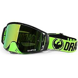 Dragon 298616030532-Gafas de Ciclismo Unisex, Color Negro/Verde