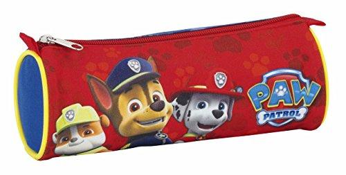 Paw Patrol Patrulla Canina Estuche portatodo Redondo, Color Rojo, 22 cm (SAFTA 811683811)