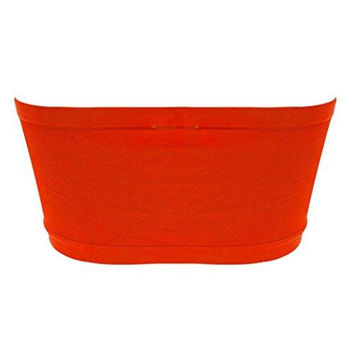 Damen Bandeau Top Orange