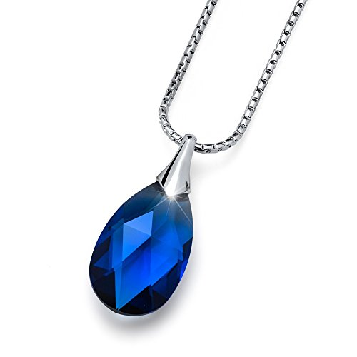 Oliver Weber Pendente Vitality small dark sapphire cristalli Swarovski