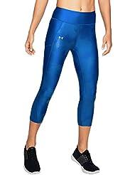 Under Armour Fly By Printed Capri Pantalones Pirata, Mujer, Lapis Blue, Medium